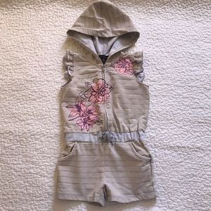 ❗️$2❗️Calvin Klein gray hooded romper